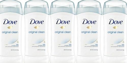 Dove Women's Antiperspirant Deodorants Just $1.25 Each on Walgreens.com