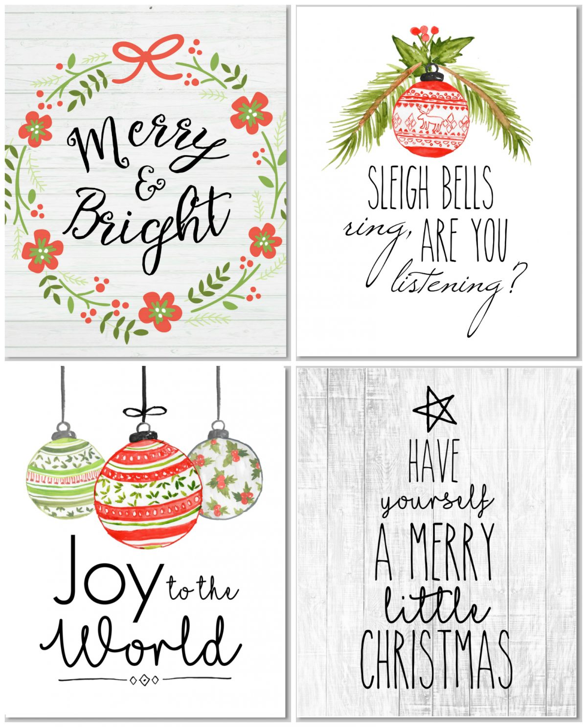Farmhouse Style Free Printable Christmas Signs Best Home Style Inspiration