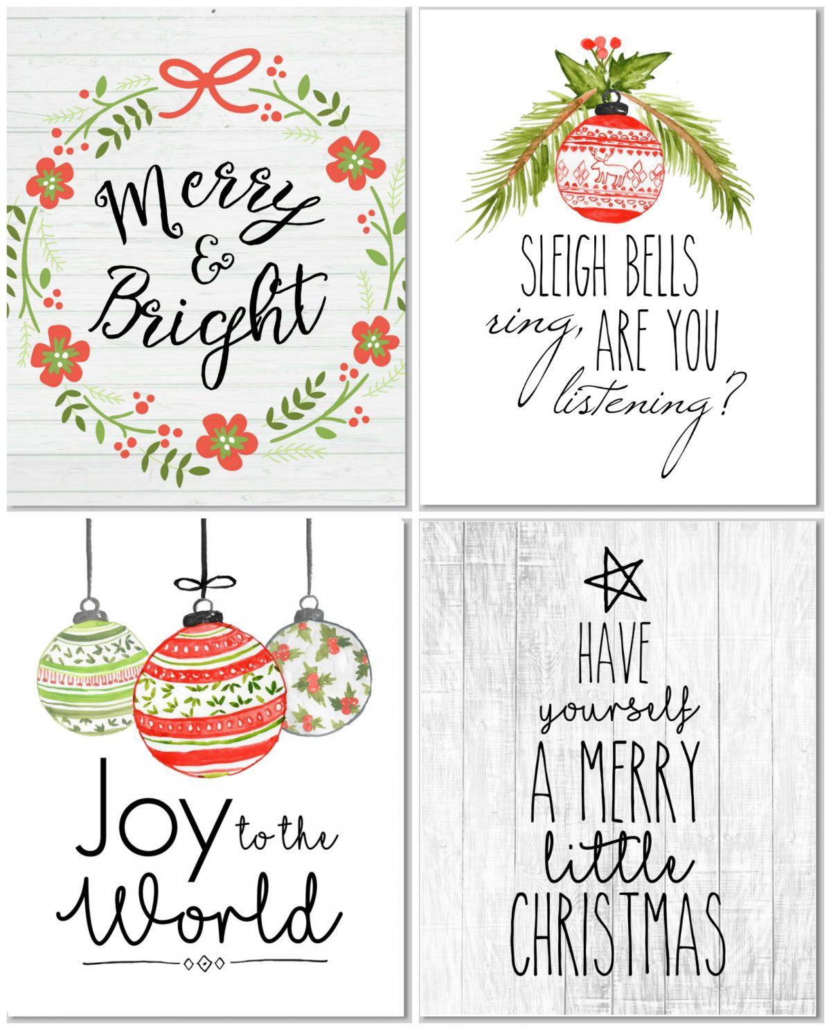 free printable farmhouse style christmas prints