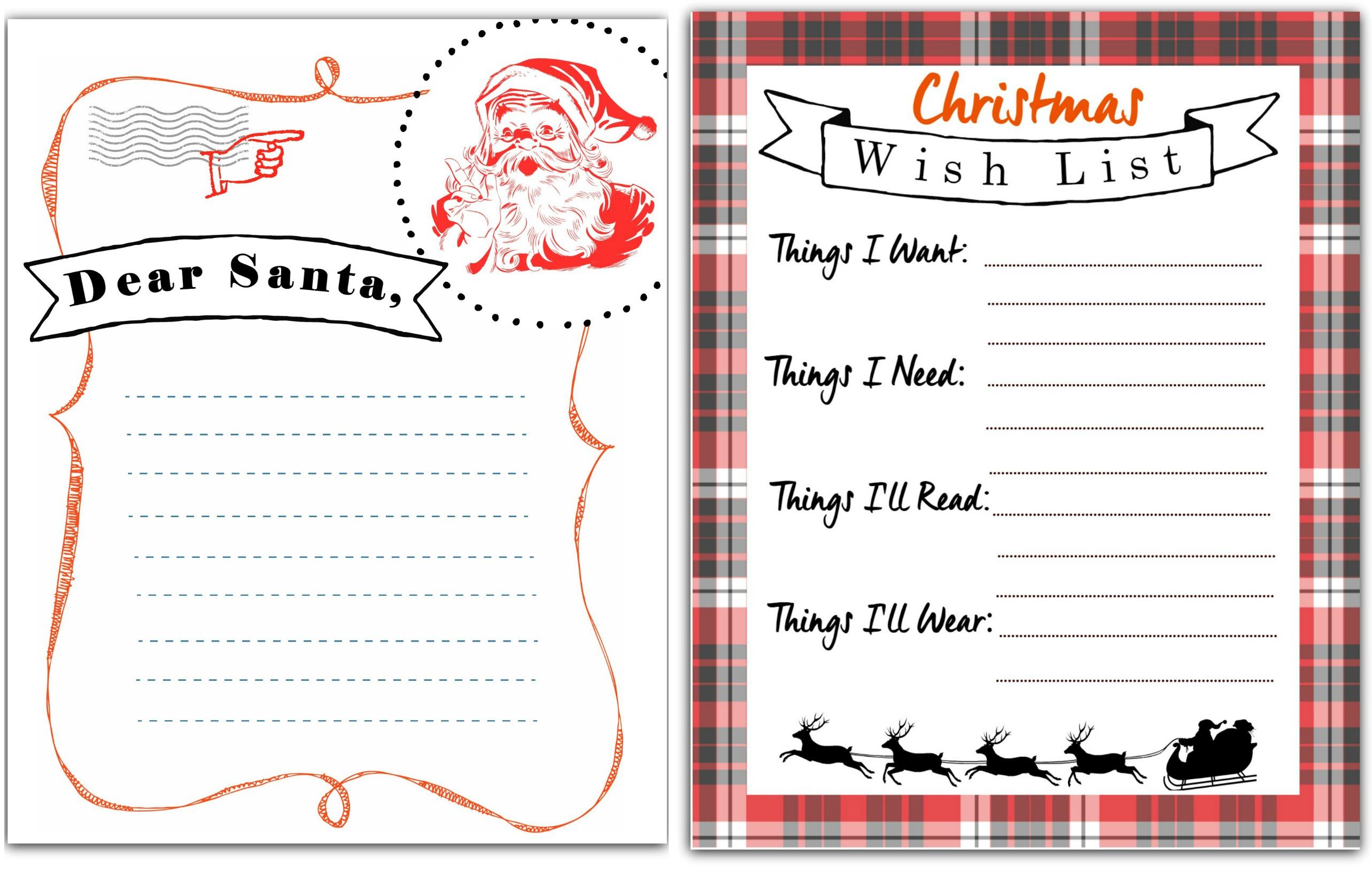 photograph regarding Printable Letterhead From Santa titled Totally free Printable Letter towards Santa Xmas Want Listing - Hip2Help you save