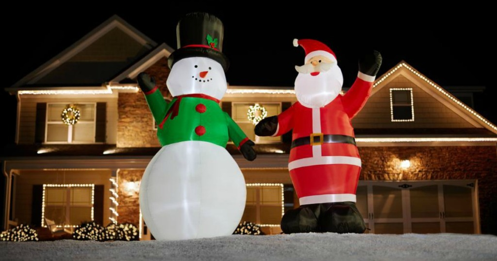 Christmas Inflatables.Home Depot 9 Christmas Inflatables Only 24 88 Regularly