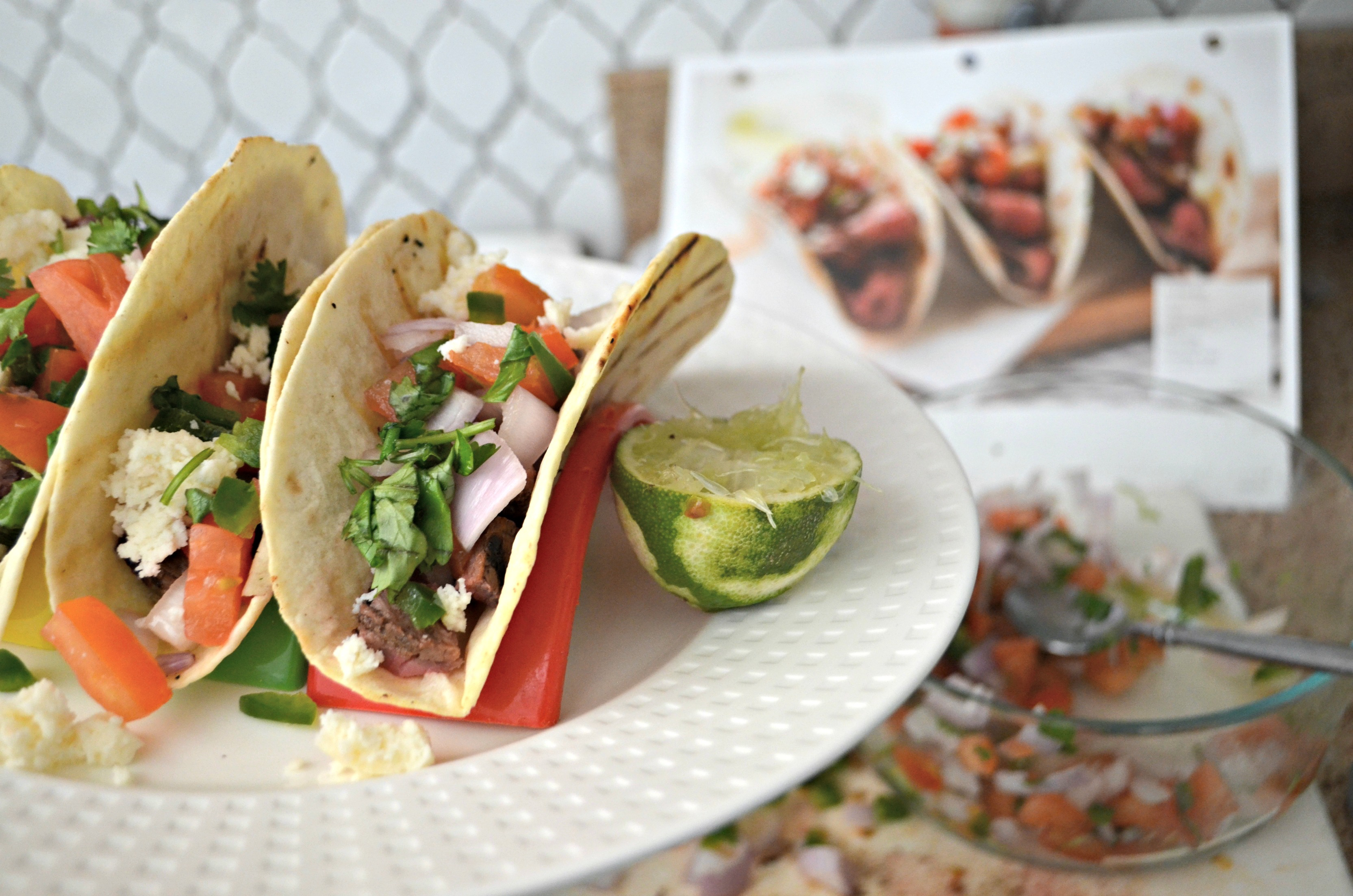 Home Chef Deal - street tacos and lime closeup