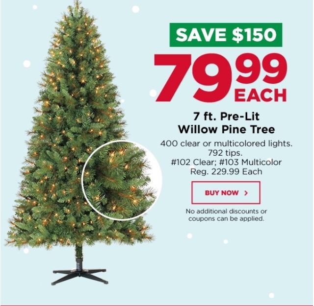 Michael's 7ft. Pre-Lit Christmas Tree $79.99 Shipped (Reg. $230!) - Michael's 7ft. Pre-Lit Christmas Tree $79.99 Shipped (Reg. $230