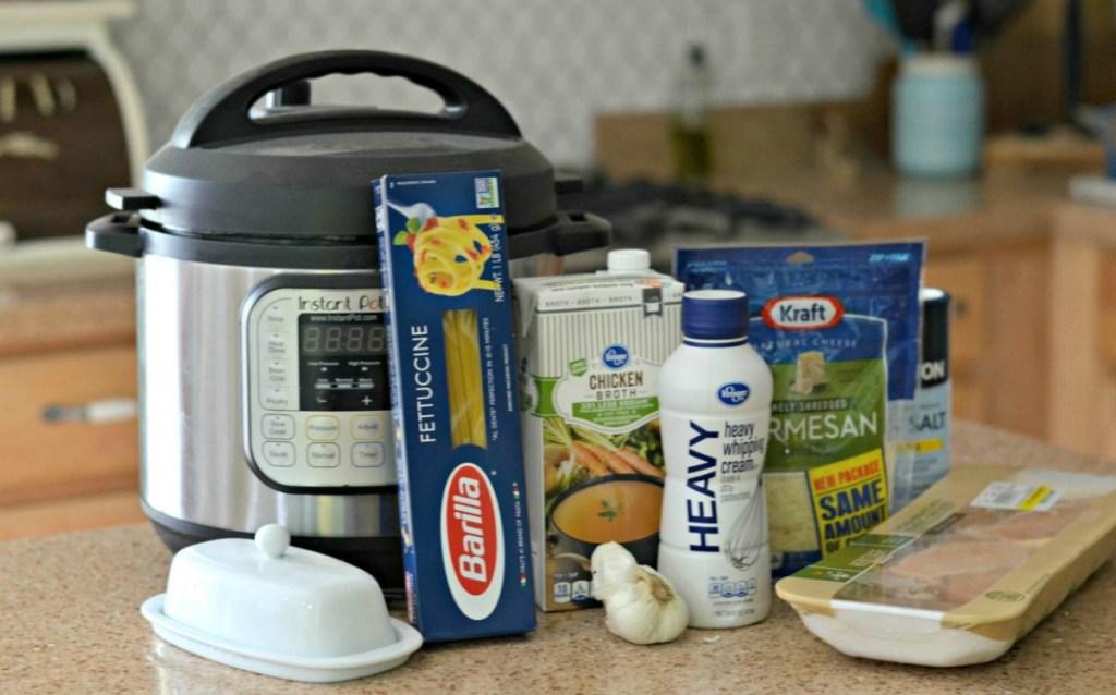ingredients for instant pot fettuccine alfredo