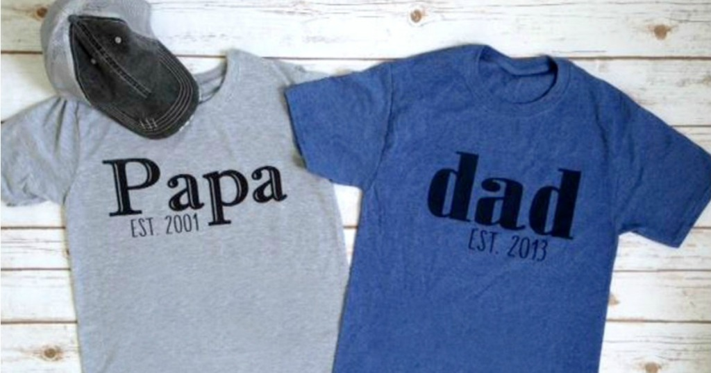 cafae038 Custom Dad T-Shirt Only $13.99 (Great Gift Idea) - Hip2Save