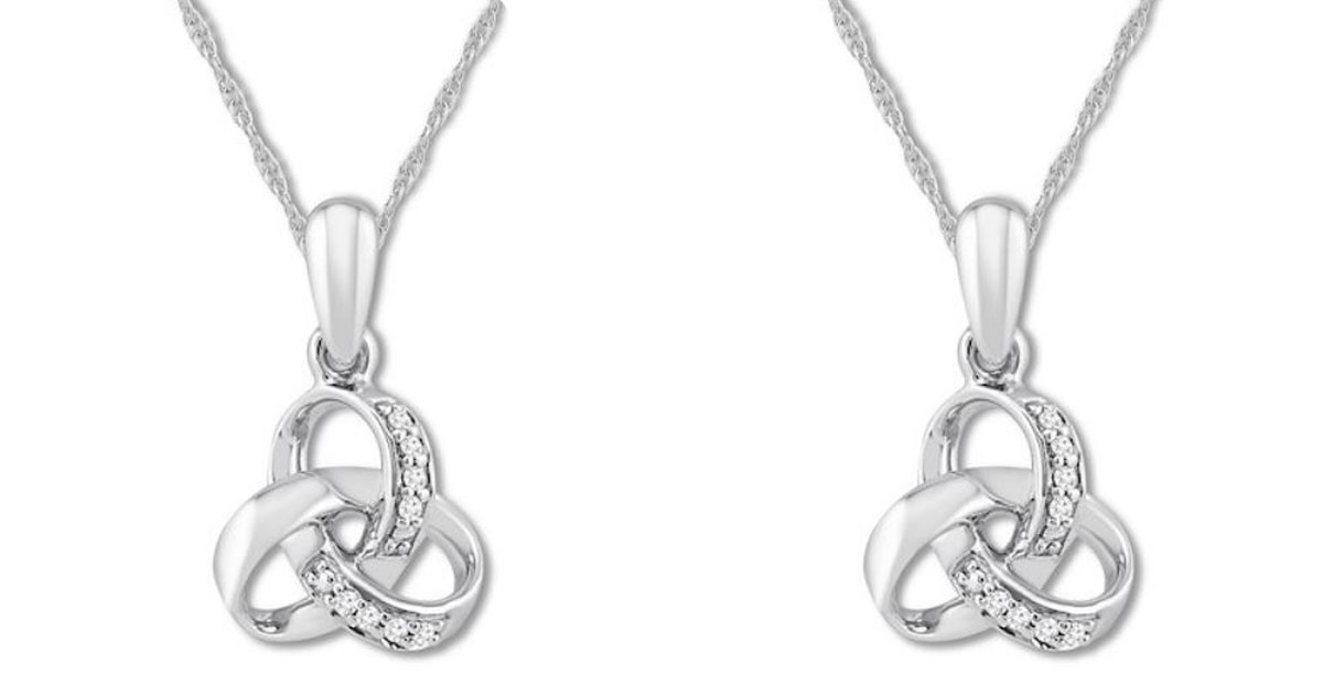 Kay Jewelers Diamond Knot Necklace Or Earrings Just 19 99 Each Shipped Regularly 70 Hip2save
