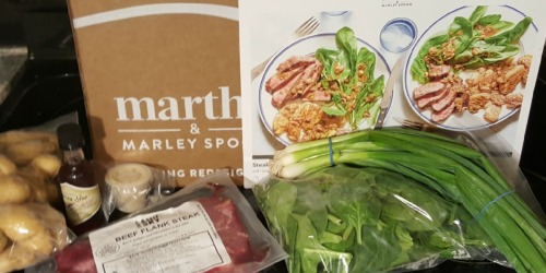 $48 Worth of Fresh Meals Only $18 Delivered from Martha & Marley Spoon