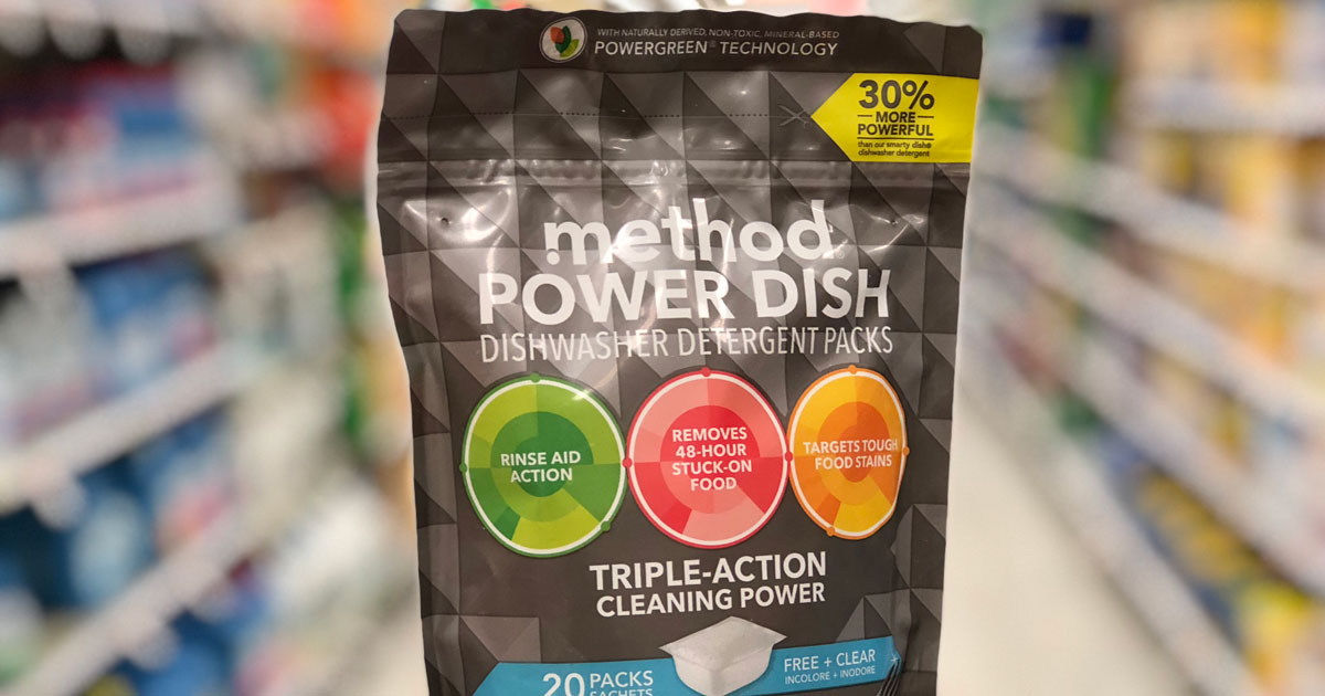 Method Power Dish Dishwasher Detergent Packs 20 count in store aisle