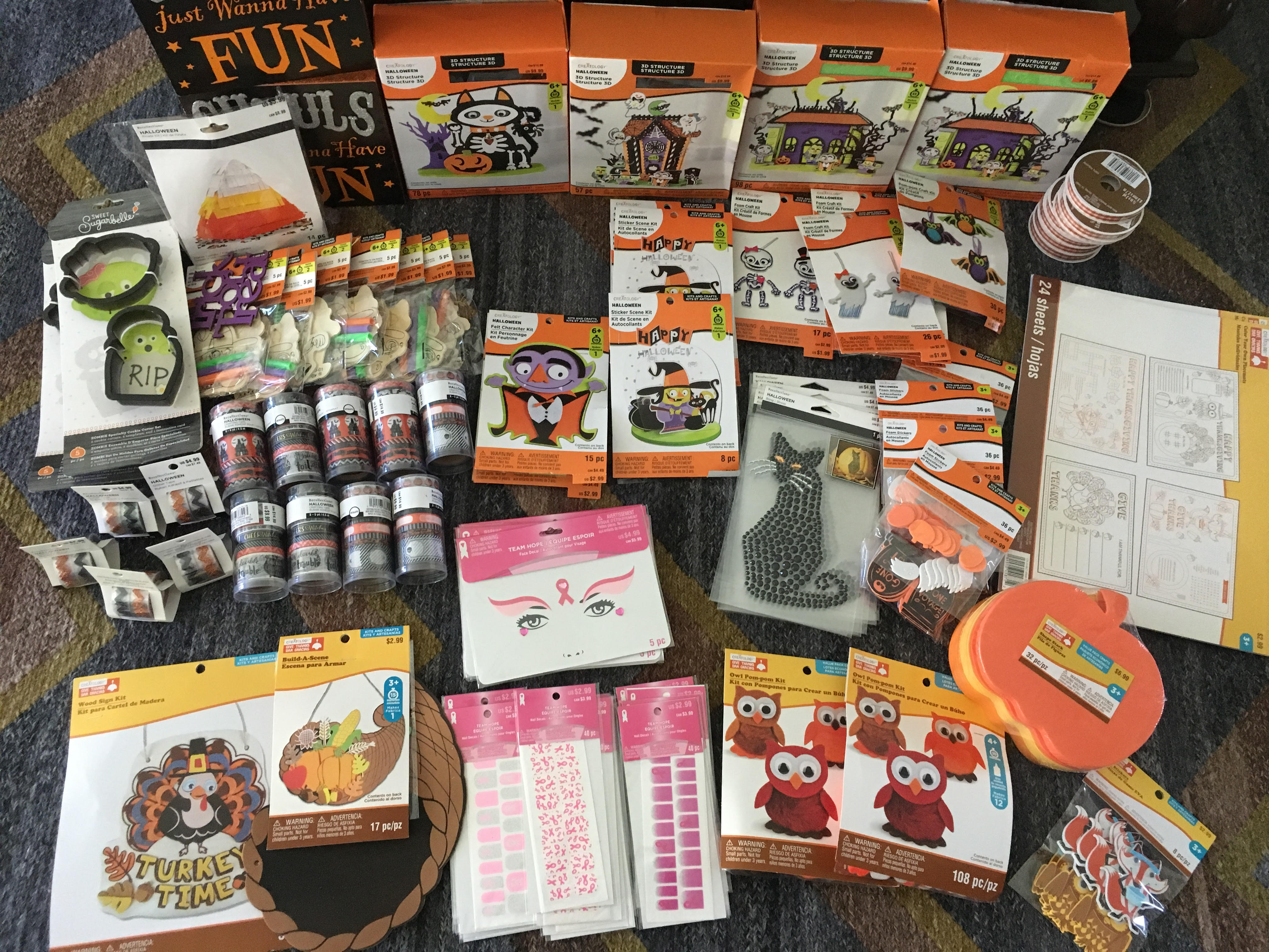 Michaels Possible 4 Halloween And Thanksgiving Grab Bags