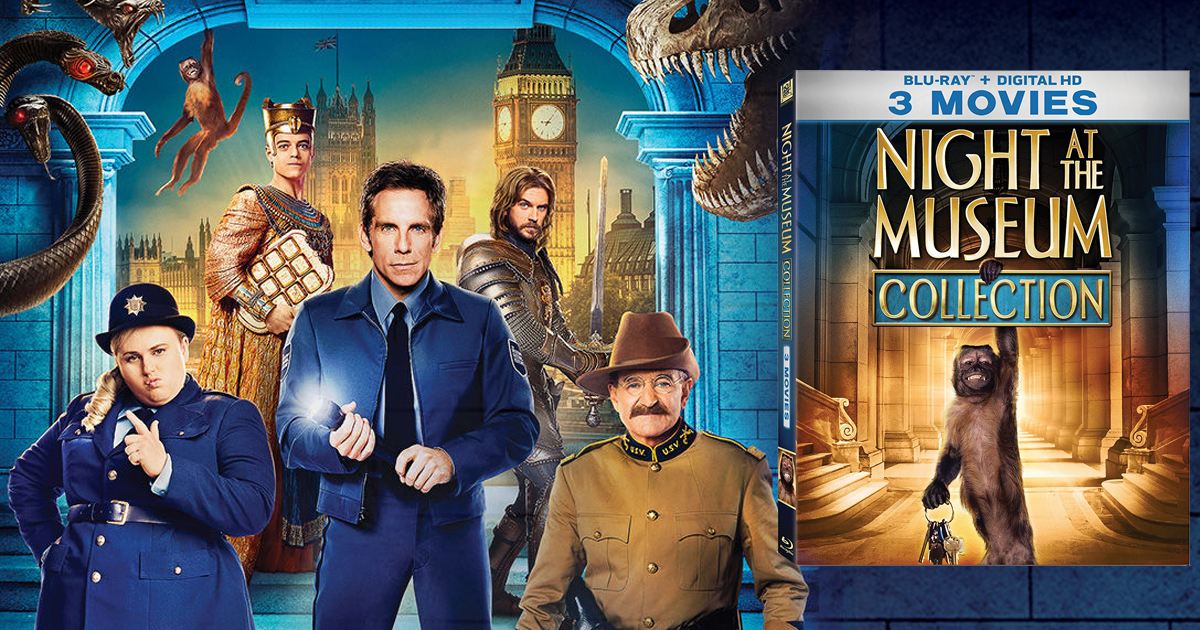 Night At The Museum 3-Movie Collection Blu-ray + Digital ...