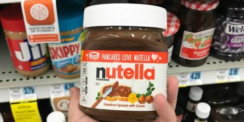 SIX Large Jars Nutella Chocolate Hazelnut Spreads Only $25.59 on Amazon