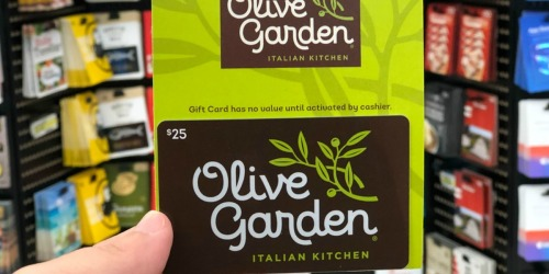 Military Exchange: $25 Olive Garden Gift Card Just $20 + More Gift Card Deals
