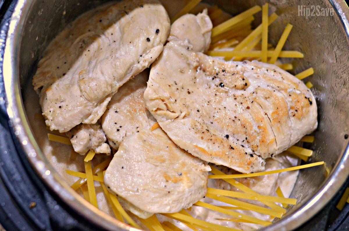 instant pot chicken alfredo
