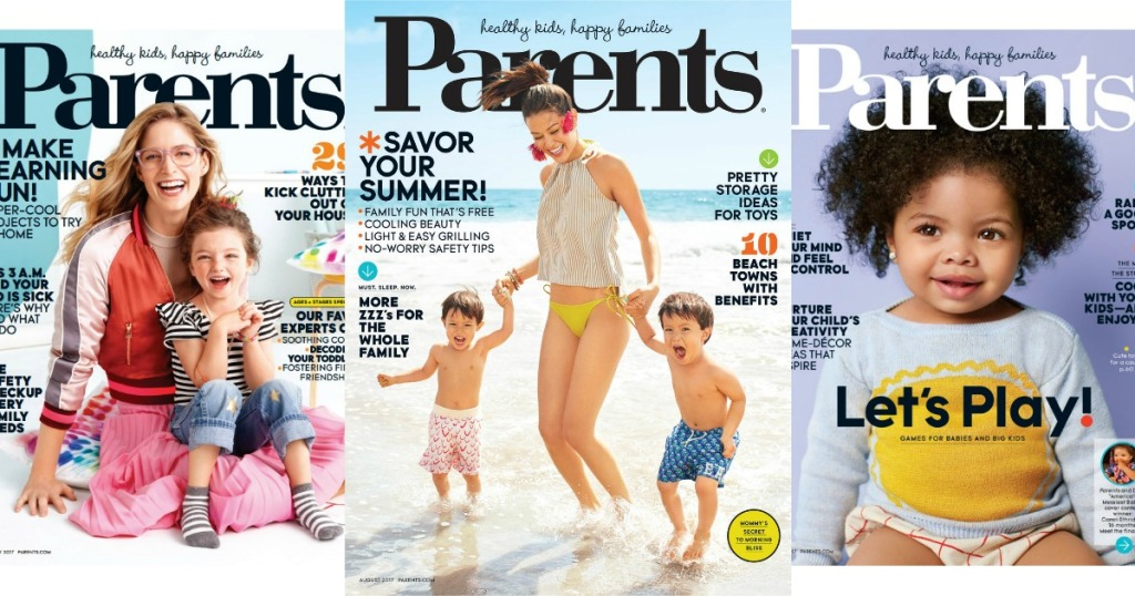three different Parents magazine covers