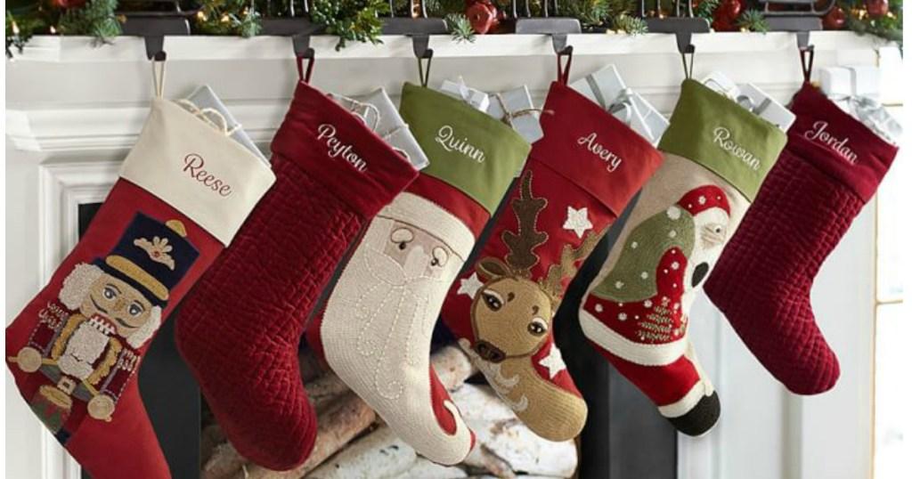 Christmas Stockings Pottery Barn.Pottery Barn Personalized Christmas Stockings As Low As 7
