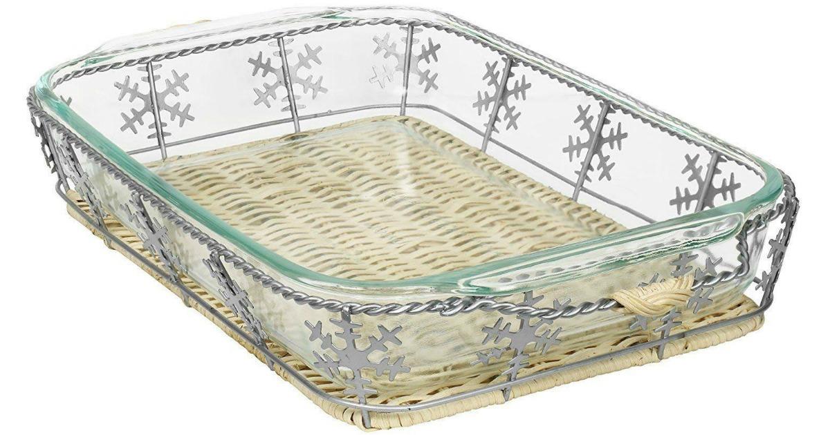 Pyrex Baking Dish Amp Snowflake Basket Just 8 99 Shipped