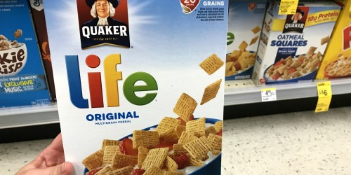 Quaker Life Cereal 13 oz. Boxes Only $1.87 Each Shipped for Amazon Prime Members