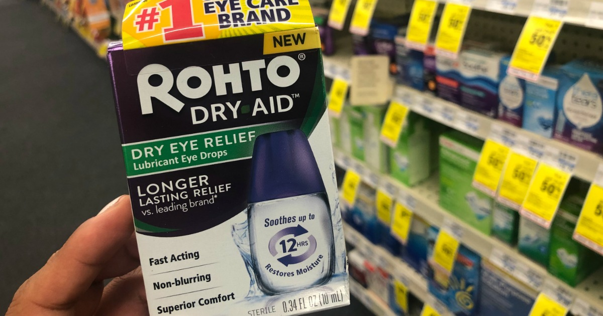 Rohto Dry Aid Eye Drops Only 49 162 After Rewards At Cvs