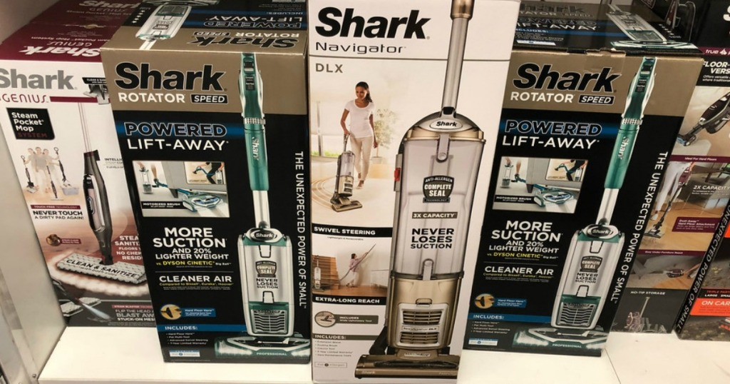 shark navigator dlx on store shelf