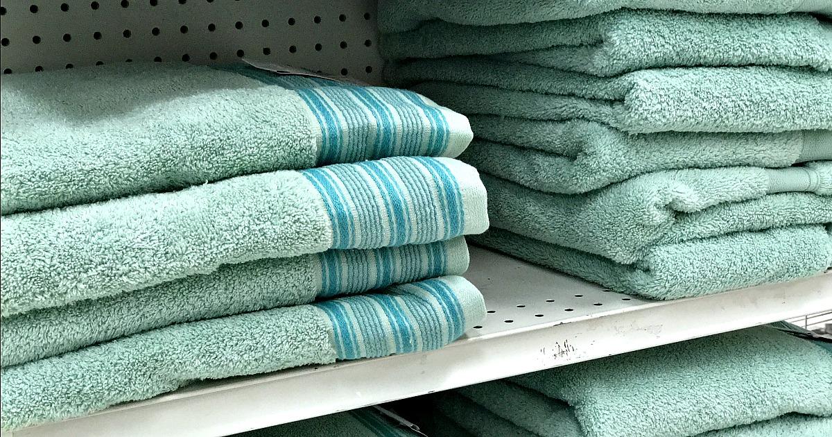 shopko towels on a shelf