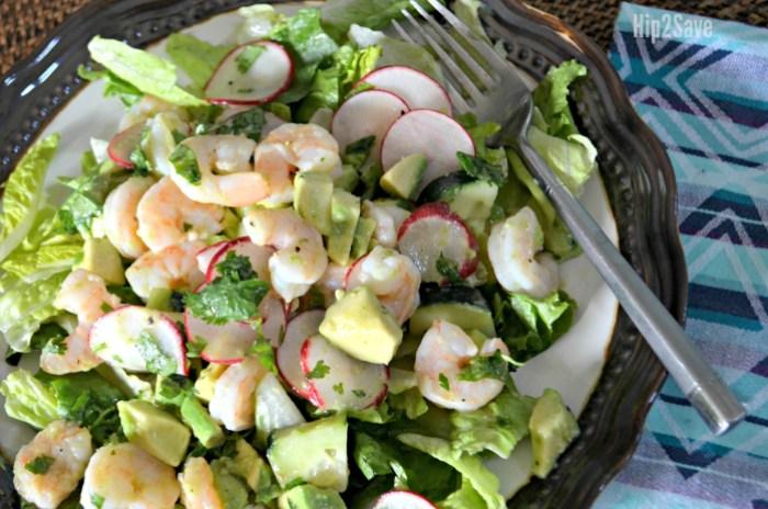 Low Carb Keto Lunch Idea Shrimp And Avocado Salad Hip2save