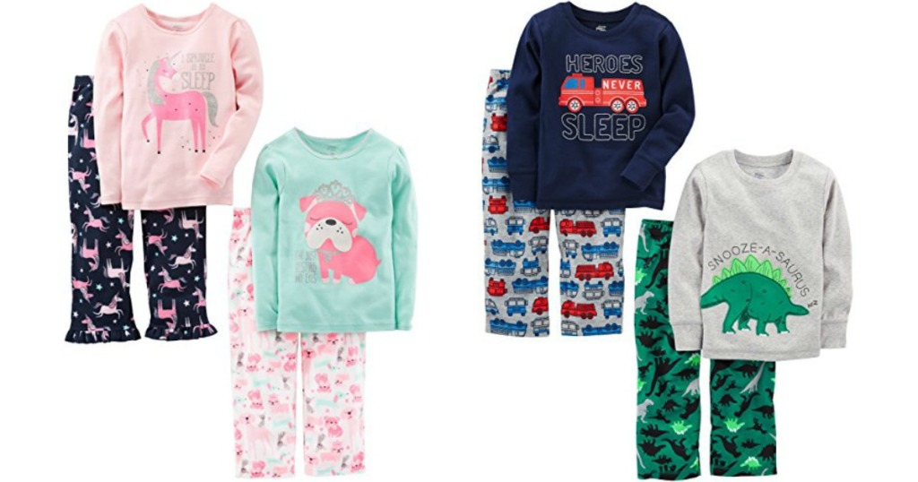 simple joys by carters girls or boys toddler 4 pc pajama set only 1299 shipped regularly 1799 just 649 per set