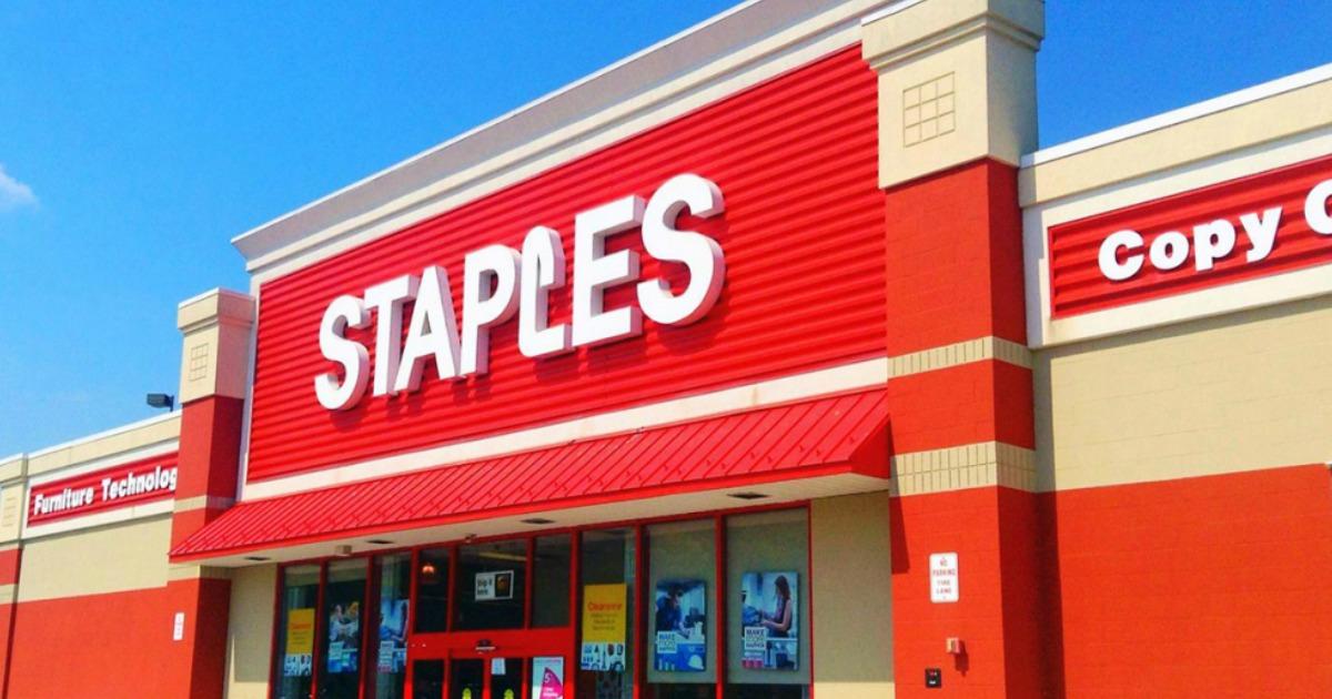 Staples storefront