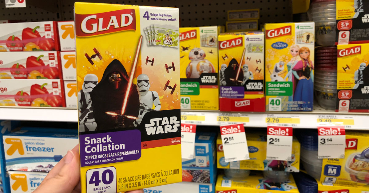 New 1 1 Glad Food Protection Coupon Star Wars Zipper