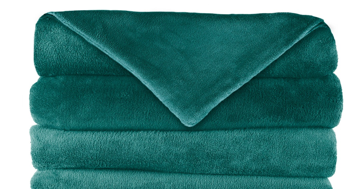 Walmart Com Sunbeam Electric Heated Fleece Throw Just 19