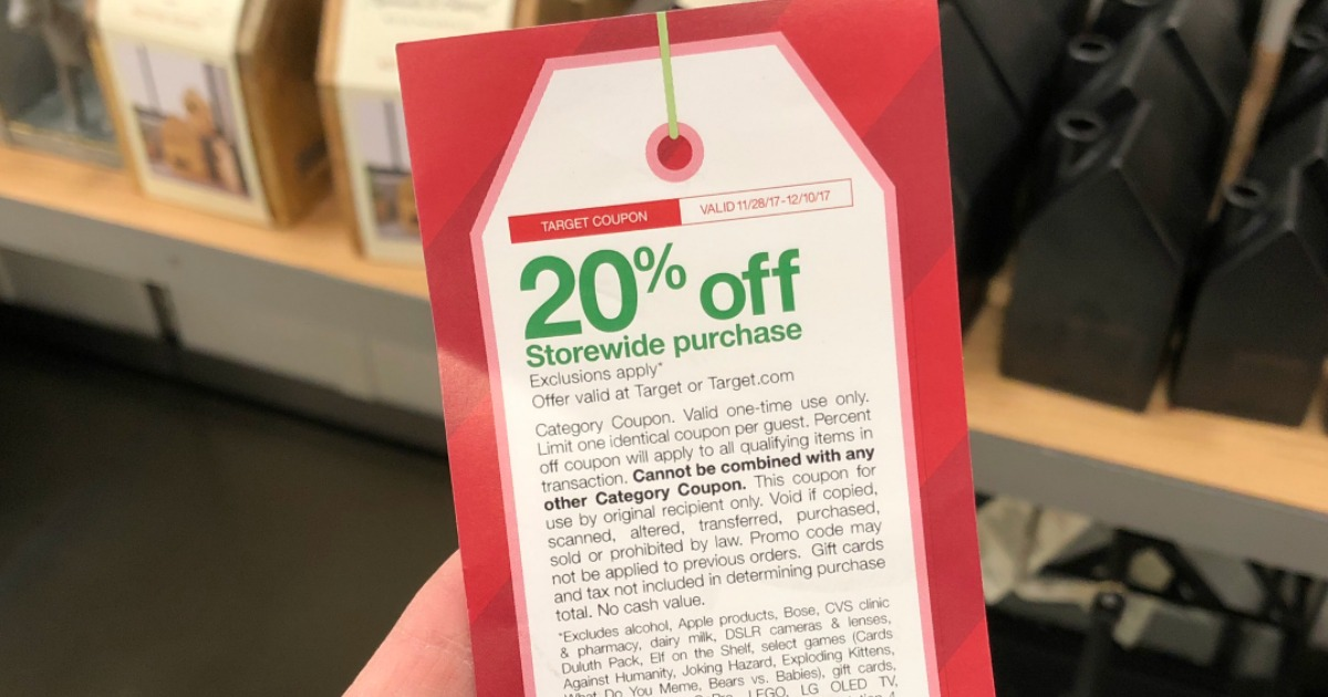 how to get a 20 coupon from target