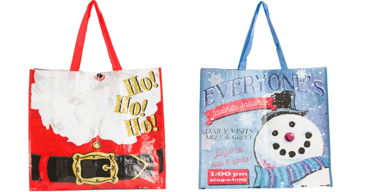NEW TJ Maxx Large Shopping Bag Tote Holiday Christmas Reusable Eco Friendly