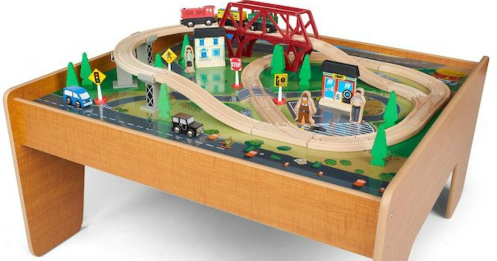 Head On Over To Toysrus Where You Can Score This Imaginarium 55 Piece Train Set With Table For Only 39 99 Shipped Regularly 79