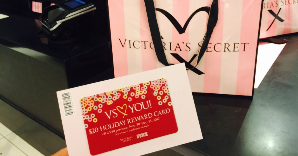 334d0ef6bd88 Starting today and through November 27th, Victoria's Secret is offering up  a FREE $20 Holiday Reward Card with your purchase of $40 or more both in-stores  ...
