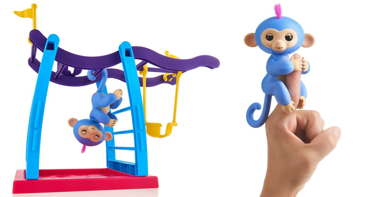 Wowwee Fingerlings Monkey And Monkey Bar Playground Or