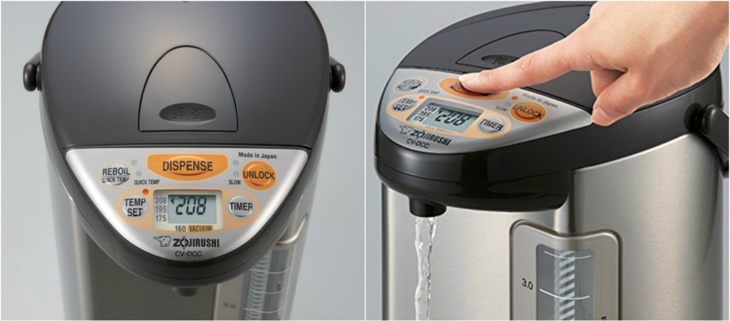 Zojirushi Water Boiler shown from multiple angles