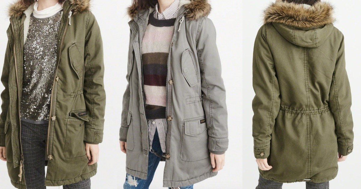 Abercrombie & Fitch Sherpa-Lined Parka Only $49 (Regularly
