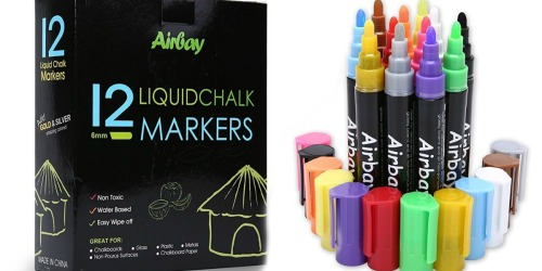 Amazon: Airbay Liquid Chalk Markers 12-Pack Only $7.69