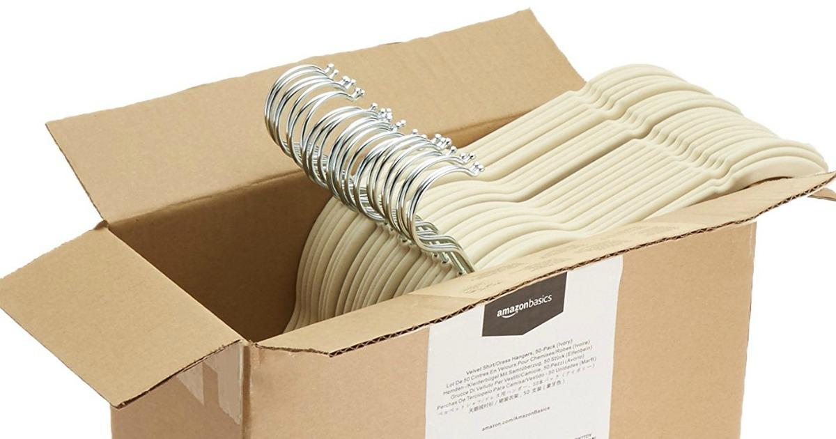 Black AmazonBasics Velvet Shirt//Dress Hangers 50-Pack