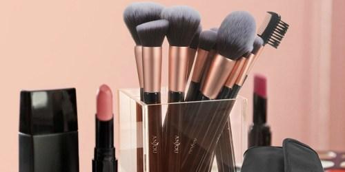 Anjou 16-Piece Makeup Brush Set w/ Clutch Only $10.79 on Amazon   Fantastic Reviews