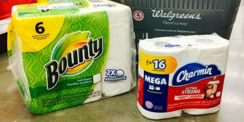 Walgreens: Bounty & Charmin Just $2.99 Each After Rewards (Starting December 31st)