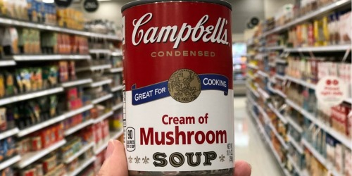 Target: Campbell's Condensed Cream of Chicken & Mushroom Soups ONLY 55¢ Per Can