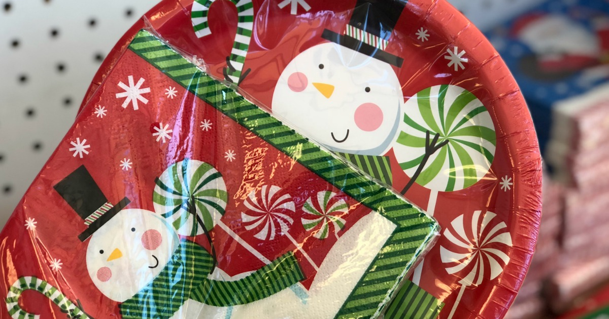 tips after-christmas clearance sales & deals – Christmas clearance plates and napkins