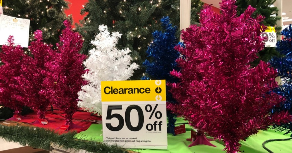 christmas tree 50% off clearance at Target