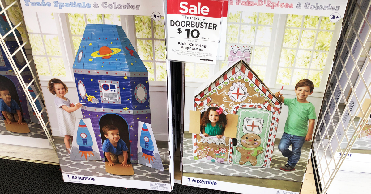 Michaels: Large Kids Coloring Playhouses Just $10 (Regularly $30 ...