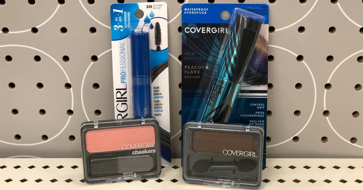 covergirl cosmetics on display
