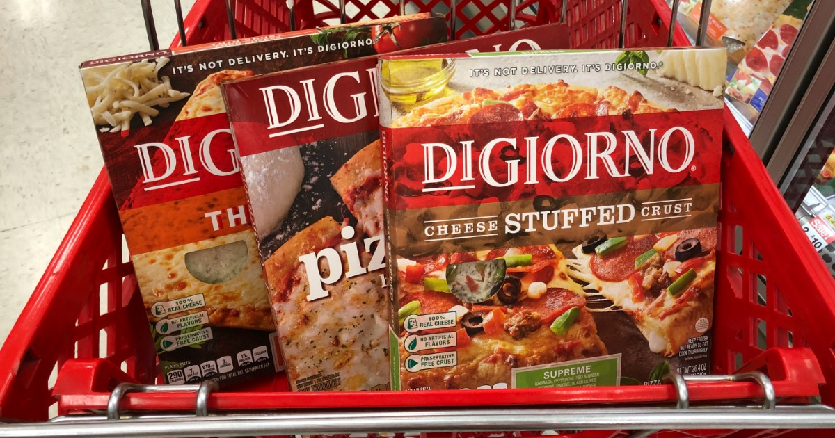 It is a graphic of Effortless Digiorno Pizza Coupon Printable