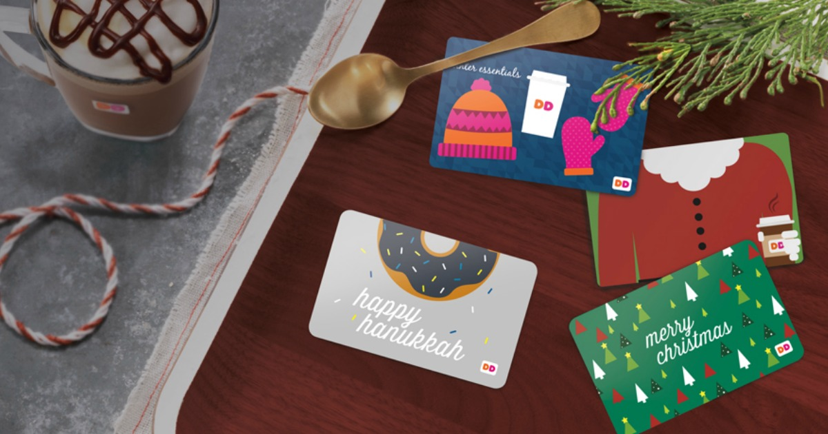 Dunkin gift Cards available for fall into the holidays