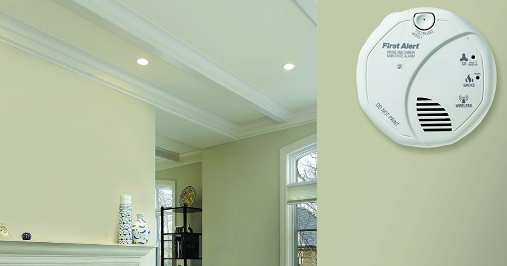 smoke and carbon alarm on wall
