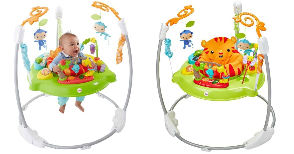 fade85fb1e09 Fisher Price Roarin  Rainforest Jumperoo Only  64 Shipped (Regularly ...