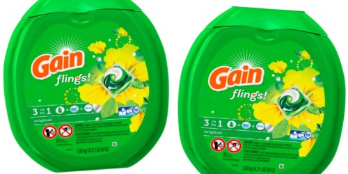 Amazon: Gain Flings Laundry Detergent Pacs 81-Count Only $13.97 Shipped (Just 17¢ Per Load)